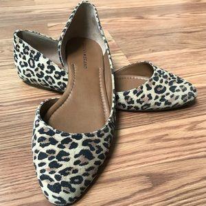 Lucky Brand Leopard Print Flats Women's Size 10